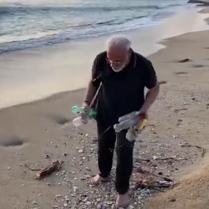 Pm plogging at Beach