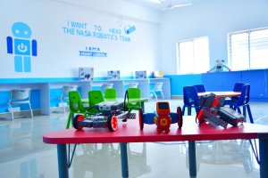 Robotics lab at Mount Litera Zee School , Kalaburagi