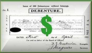 debenture certificate